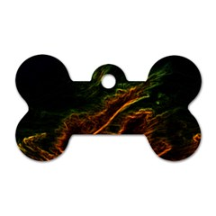 Abstract Glowing Edges Dog Tag Bone (two Sides)