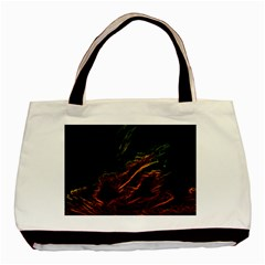 Abstract Glowing Edges Basic Tote Bag (Two Sides)