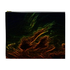 Abstract Glowing Edges Cosmetic Bag (xl)