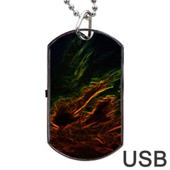 Abstract Glowing Edges Dog Tag Usb Flash (two Sides)