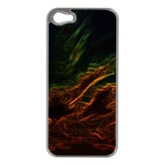 Abstract Glowing Edges Apple iPhone 5 Case (Silver)