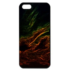 Abstract Glowing Edges Apple iPhone 5 Seamless Case (Black)