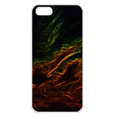 Abstract Glowing Edges Apple iPhone 5 Seamless Case (White)