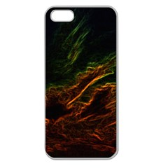 Abstract Glowing Edges Apple Seamless iPhone 5 Case (Clear)