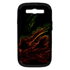 Abstract Glowing Edges Samsung Galaxy S III Hardshell Case (PC+Silicone)