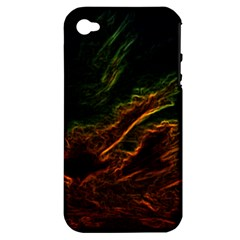 Abstract Glowing Edges Apple iPhone 4/4S Hardshell Case (PC+Silicone)