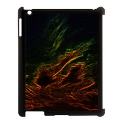 Abstract Glowing Edges Apple iPad 3/4 Case (Black)