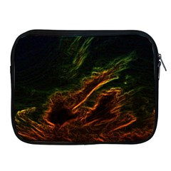 Abstract Glowing Edges Apple iPad 2/3/4 Zipper Cases