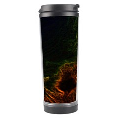 Abstract Glowing Edges Travel Tumbler