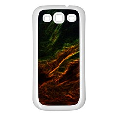 Abstract Glowing Edges Samsung Galaxy S3 Back Case (White)