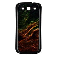 Abstract Glowing Edges Samsung Galaxy S3 Back Case (Black)