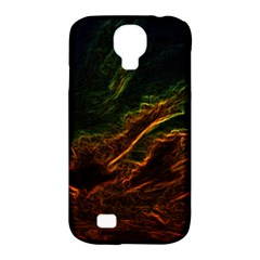 Abstract Glowing Edges Samsung Galaxy S4 Classic Hardshell Case (PC+Silicone)