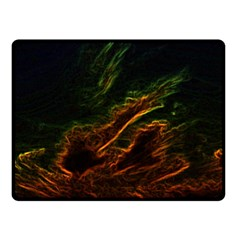 Abstract Glowing Edges Double Sided Fleece Blanket (Small)