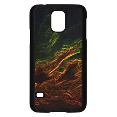 Abstract Glowing Edges Samsung Galaxy S5 Case (Black)
