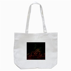 Abstract Glowing Edges Tote Bag (white)