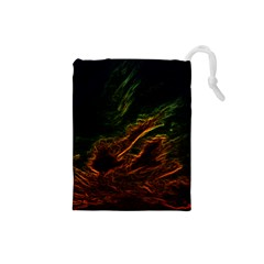 Abstract Glowing Edges Drawstring Pouches (Small)