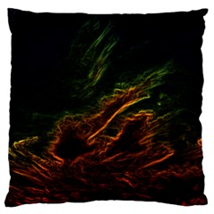 Abstract Glowing Edges Large Flano Cushion Case (One Side)