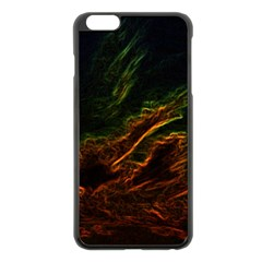 Abstract Glowing Edges Apple iPhone 6 Plus/6S Plus Black Enamel Case
