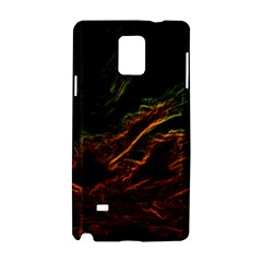 Abstract Glowing Edges Samsung Galaxy Note 4 Hardshell Case