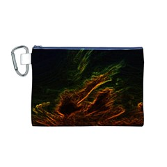 Abstract Glowing Edges Canvas Cosmetic Bag (M)