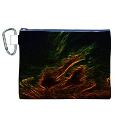 Abstract Glowing Edges Canvas Cosmetic Bag (XL)
