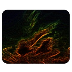 Abstract Glowing Edges Double Sided Flano Blanket (Medium)