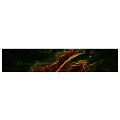 Abstract Glowing Edges Flano Scarf (small)
