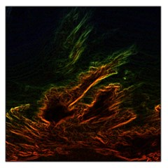 Abstract Glowing Edges Large Satin Scarf (Square)