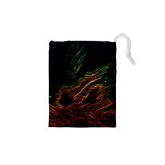 Abstract Glowing Edges Drawstring Pouches (xs)