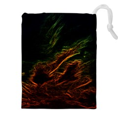 Abstract Glowing Edges Drawstring Pouches (xxl)