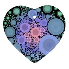 An Abstract Background Consisting Of Pastel Colored Circle Ornament (heart)
