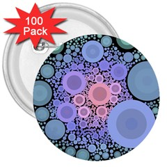 An Abstract Background Consisting Of Pastel Colored Circle 3  Buttons (100 Pack)