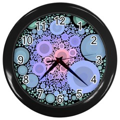 An Abstract Background Consisting Of Pastel Colored Circle Wall Clocks (black)