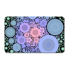 An Abstract Background Consisting Of Pastel Colored Circle Magnet (rectangular)
