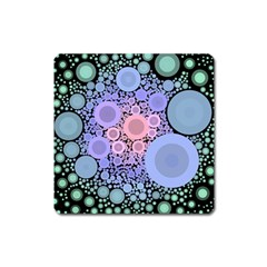 An Abstract Background Consisting Of Pastel Colored Circle Square Magnet