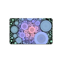 An Abstract Background Consisting Of Pastel Colored Circle Magnet (name Card)