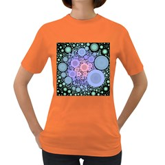 An Abstract Background Consisting Of Pastel Colored Circle Women s Dark T-Shirt