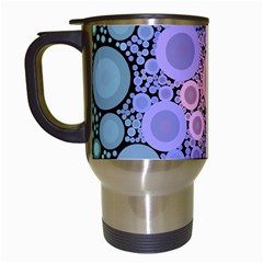 An Abstract Background Consisting Of Pastel Colored Circle Travel Mugs (White)