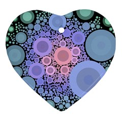 An Abstract Background Consisting Of Pastel Colored Circle Heart Ornament (two Sides)