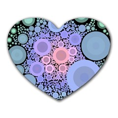 An Abstract Background Consisting Of Pastel Colored Circle Heart Mousepads