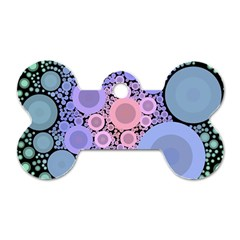 An Abstract Background Consisting Of Pastel Colored Circle Dog Tag Bone (two Sides)