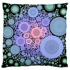 An Abstract Background Consisting Of Pastel Colored Circle Large Cushion Case (Two Sides)