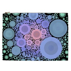An Abstract Background Consisting Of Pastel Colored Circle Cosmetic Bag (xxl)
