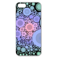 An Abstract Background Consisting Of Pastel Colored Circle Apple Seamless iPhone 5 Case (Clear)