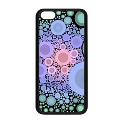 An Abstract Background Consisting Of Pastel Colored Circle Apple iPhone 5C Seamless Case (Black)