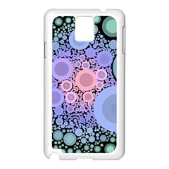 An Abstract Background Consisting Of Pastel Colored Circle Samsung Galaxy Note 3 N9005 Case (White)