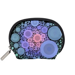An Abstract Background Consisting Of Pastel Colored Circle Accessory Pouches (small)