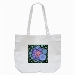 An Abstract Background Consisting Of Pastel Colored Circle Tote Bag (White)