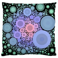 An Abstract Background Consisting Of Pastel Colored Circle Large Flano Cushion Case (One Side)