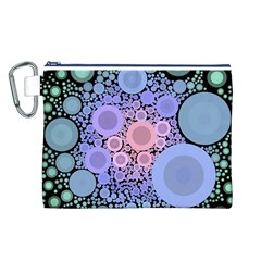 An Abstract Background Consisting Of Pastel Colored Circle Canvas Cosmetic Bag (L)
